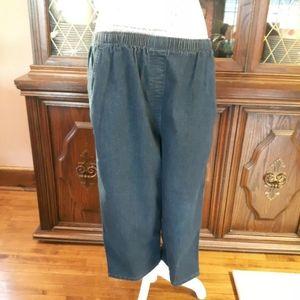 denim below the knee Capris blue Shorts Size L